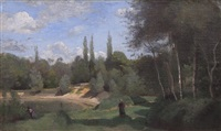 ville d'avray by jean-baptiste-camille corot