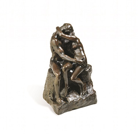 le baiser, troisième reduction 'the kiss' by auguste rodin