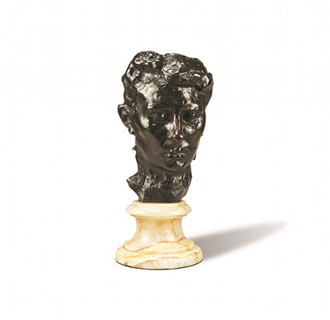 masque de madame rodin, also known as masque de rose beuret 'mask of madame rodin' by auguste rodin