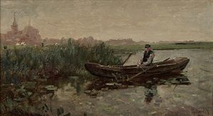fisherman in the polder by paul joseph constantin gabriël