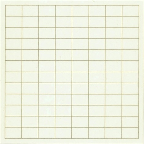 on a clear day (#07) by agnes martin