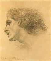 study for the head of perseus by edward john poynter