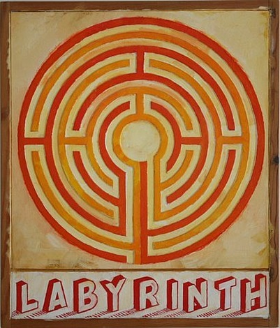 labyrinth theseus by joe tilson