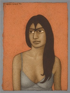 seated figure by shanti panchal