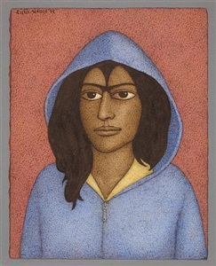 girl with a hood by shanti panchal