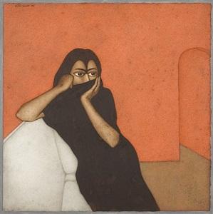 woman in black by shanti panchal