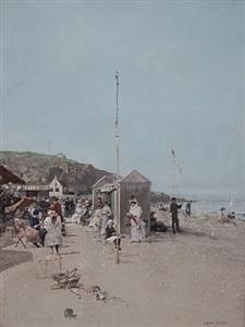sur la plage, deauville by luigi loir