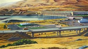 landscape, the dalles, oregon by robert a. birmelin