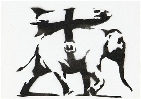 heavy weaponry by banksy