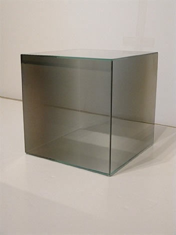 cube #32 (gray) by larry bell