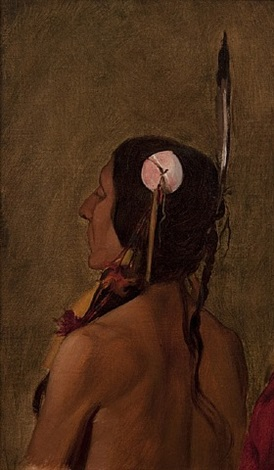 study for treaty of the traverse des sioux by francis davis millet