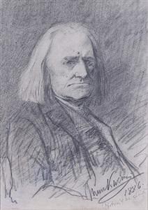 portrait of franz liszt by mihály munkácsy