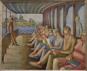 ferry deck by carolyn keskulla