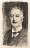 portrait of albert vickers, chairman of the vickers company, 1909-1918, by john singer sargent