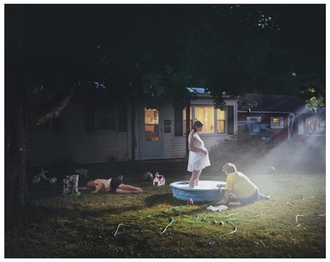 untitled pregnant woman pool by gregory crewdson