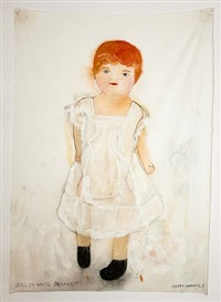 doll in white organdy dress by sherry markovitz