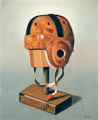 1920s football helmet by toni ellis