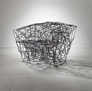 black iron chair by fernando and humberto campana