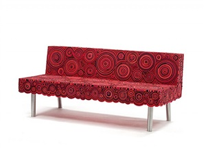 sushi sofa (red & black) by fernando and humberto campana