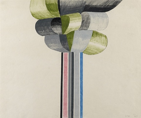cubist tree by david hockney