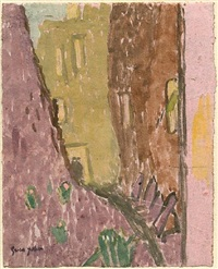 street in twilight, meudon by gwen john