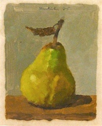 green and yellow pear by robert kulicke