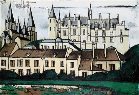 le chateau de loches by bernard buffet