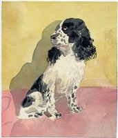 seated dog by robert andrew parker
