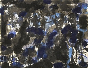 untitled (blue and black) by norman bluhm