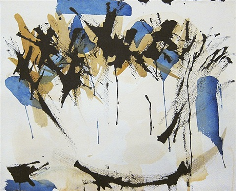 untitled (blue, black, and ochre) by norman bluhm