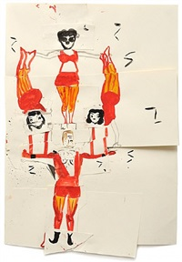 night circus (mercury) by rose wylie
