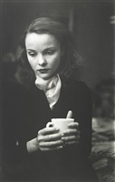 jean with cup by saul leiter