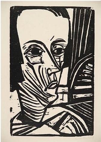 a. n. (portrait asta nielsen) by erich heckel