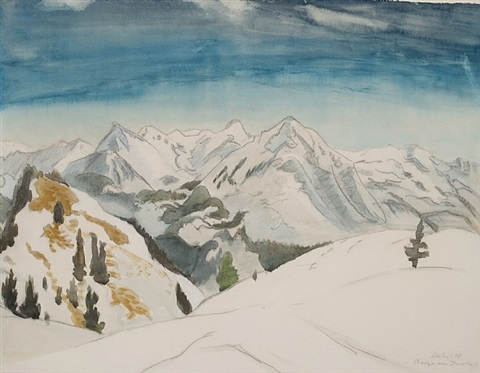 berge am inntal by erich heckel