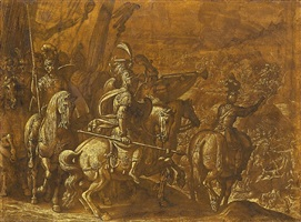 a battle scene by antonio tempesta