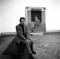 francis bacon, metropolitan museum by harry benson
