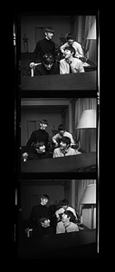 beatles composing times three, george v hotel, paris, by harry benson