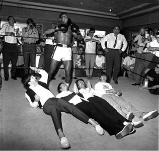 the beatles cassius clay, miami by harry benson