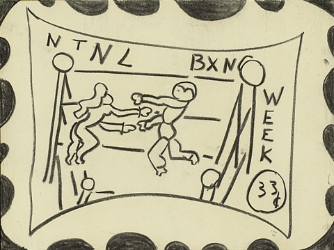 ntnl bxng week (northern texas northern louisiana boxing week), 33c by william nelson copley
