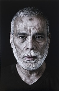 ahmed (mourners), from the book of kings series by shirin neshat