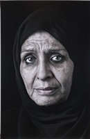 ghada (mourners), from the book of kings series by shirin neshat