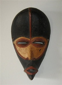painted mask by senufo
