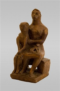 mother, child and cat by edward douglas eade