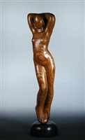 standing female nude by maurice lambert