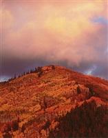 fiery mountain sunset, utah by christopher burkett