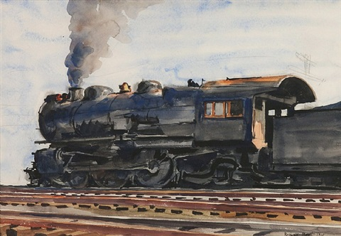 locomotive #2 by reginald marsh
