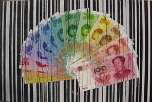 colour rmb fan by sheng qi