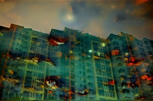 twilight high-rise: urban amber by han bing