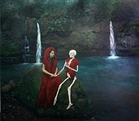 magdalene talking to past, present, future by geraldine javier
