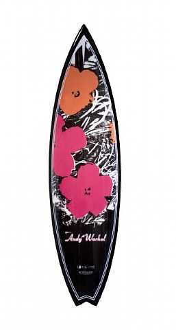andy warhol surfboard (flowers) by tim bessell